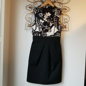 Max and Cleo Black and White Dress